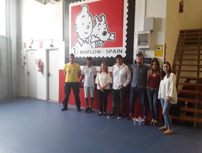 125/5000 The participants of the third coaching group in Spain visited the facilities of the company Maflow Spain Automotive